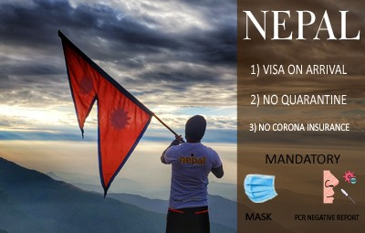 nepal visa on arrival no corona insurance and no quarantine