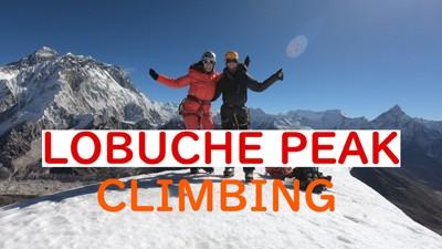 lobuche peak climbing video