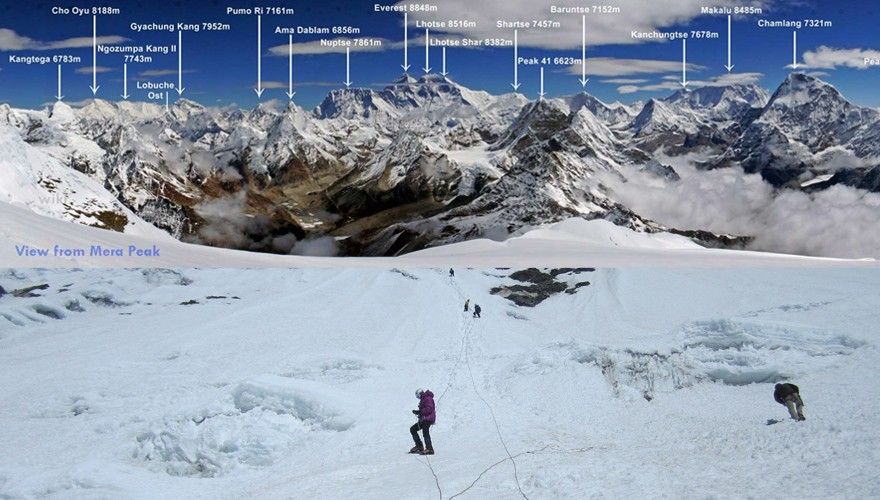 mera peak climbing nepal