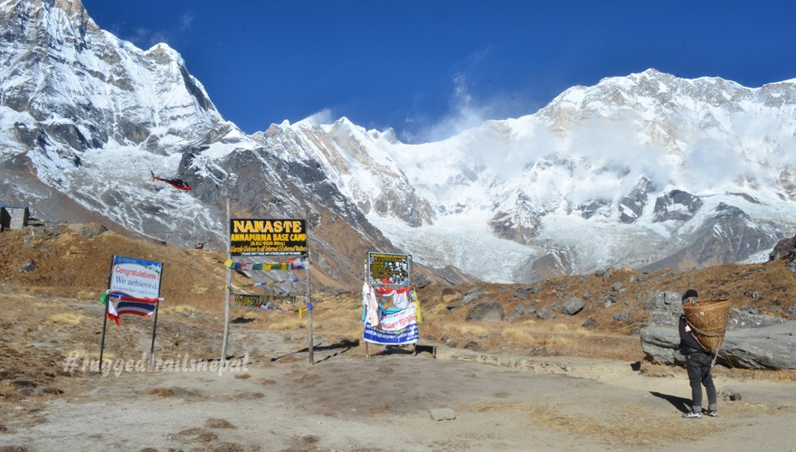 pokhara to annapurna base camp helicopter tour with landing