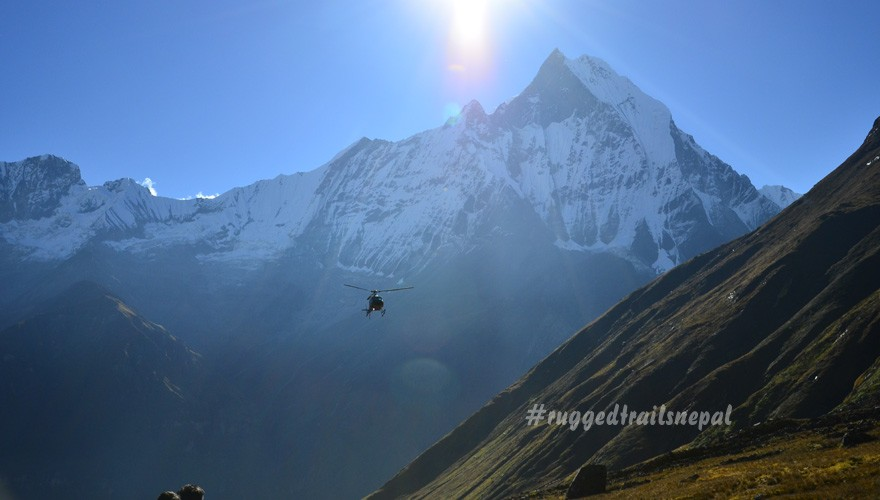pokhara to annapurna base camp helicopter tour