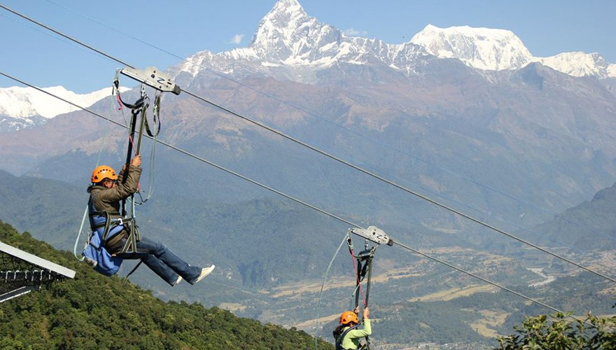 Zip Flyer In Nepal Pokhara
