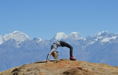 yoga in the mountains nepal
